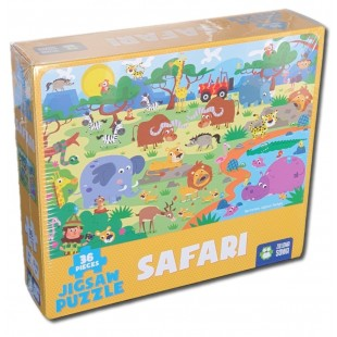 Puzzle Safari -36 piese,Animale Jungla(4+)