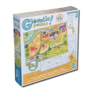 Puzzle Gigantic- Ferma,12 piese - Activitati pentru copii (2+)