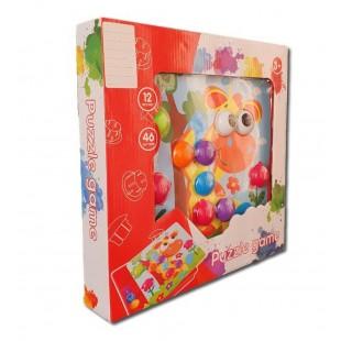 Puzzle Joc -12 poze,46butoane- Activitati pentru copii(3+)