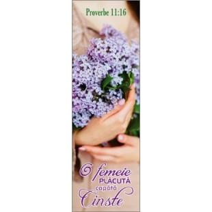 Semn de carte - O femeie placuta capata cinste! (6)