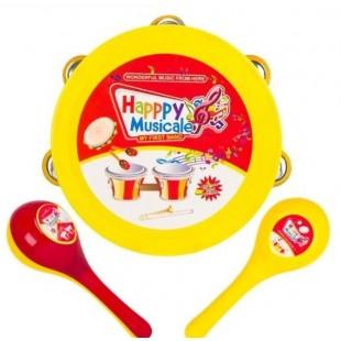 Instrument muzical - Tamburina si Maracas (Jucarii pentru copii 3+)