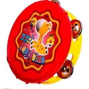 Instrument muzical - Tamburina, rosu-galebn (Jucarii pentru copii 3+)