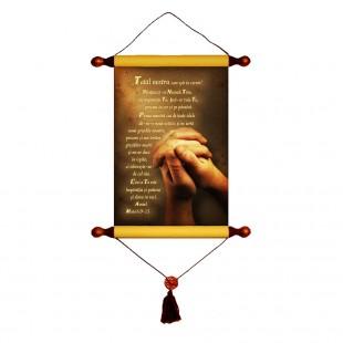 Papirus A4 vintage - Tatal nostru (Matei 6:9-13)