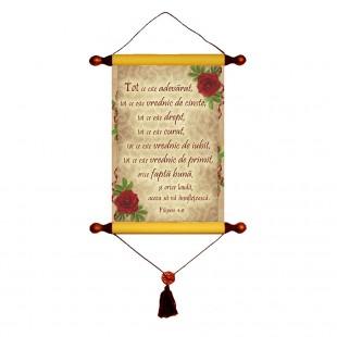 Papirus A4 vintage - Tot ce este adevarat (Filipeni 4:8)