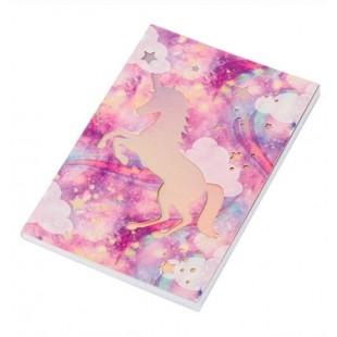 Carnet A5, roz-mov - Unicorn