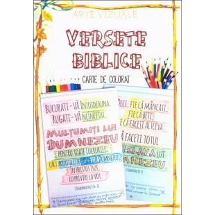 Versete biblice - carte de colorat, tip rustic