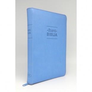Szent Biblia - Közepes Biblia, Világoskék, Cipzárral, Károli Gáspár, Forditása (Biblia medie in lb. maghiara, fermoar)