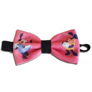 Papion roz cu Mickey and Minnie