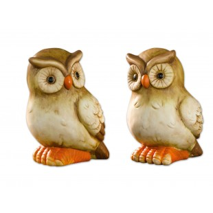 Set 2 figurine ceramice decorative - Bufnite