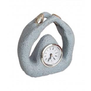 Ceas - Statueta cu ceas - gri ( 11 x 12 x 5 cm)