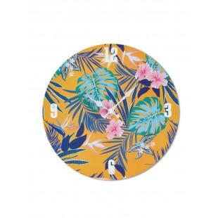 Ceas perete, 33 cm - Motiv floral