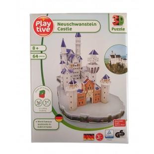 Puzzle 3D - Neuschwanstein Castle (64 piese)