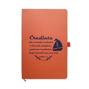 Carnetel A5 - Credința (portocaliu)
