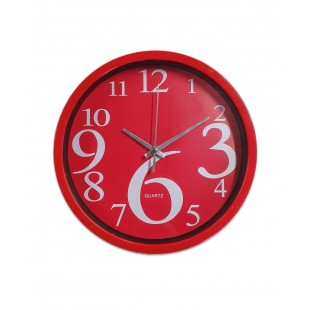Ceas de perete rotund - Rosu(25 x 25cm)
