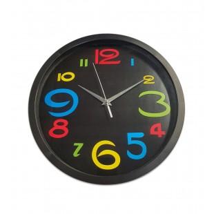 Ceas de perete rotund - Negru (30 x 30cm)