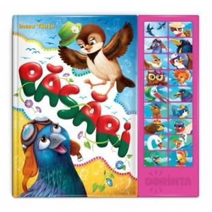 Carte cu sunete. Păsări - Carte educativă pentru copii