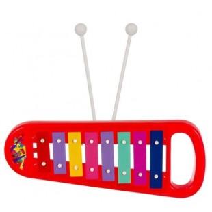 Instrument muzical - Xilofon, rosu (Jucarii pentru copii 3+)