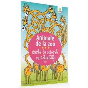 Animale de la Zoo - Carte de colorat cu activitati (3-5 ani)